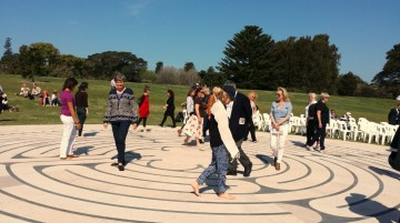 Walking the Labyrinth at Centennial Park Sydney