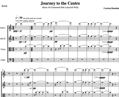 journey to the centre - music for centennial park labyrinth
