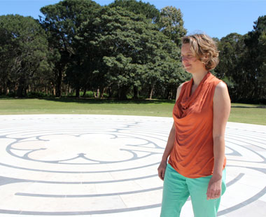 Corrina Bonshek Walking Centennial Park Labyrinth