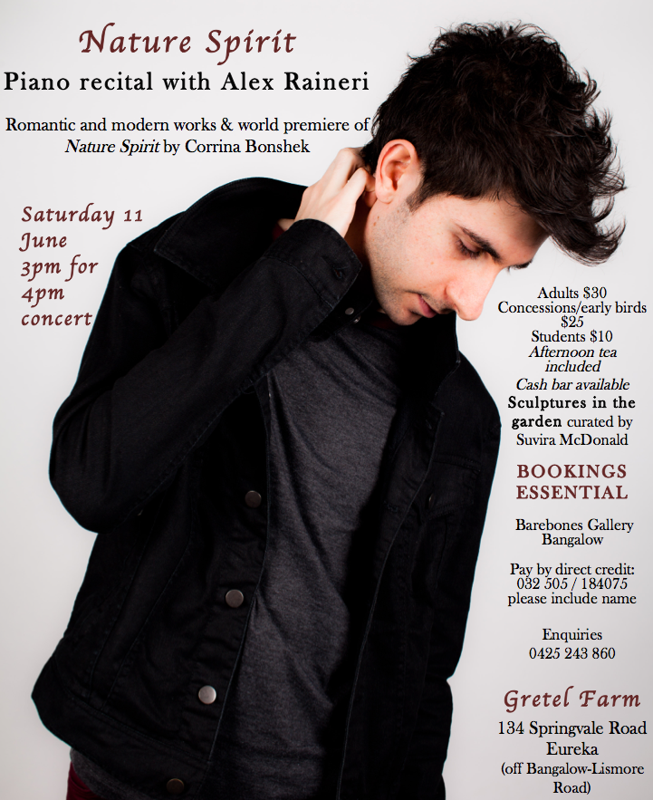 Nature Spirit Concert with Alex Raineri