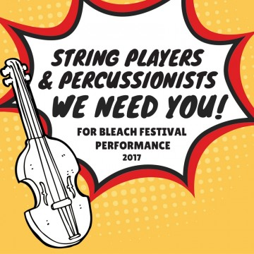 Call Out to String Players & Percussionsists